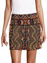 Valentino Wood Beaded Skirt