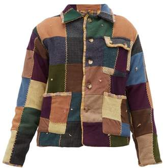 Bode - Patchwork Single Breasted Wool Jacket - Womens - Multi