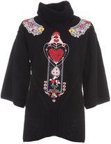Piccione Piccione Black Embroidery Sweater