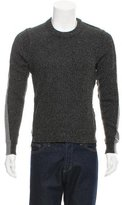 Dolce & Gabbana Virgin Wool Rib Knit Panel Sweater