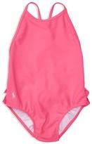 Ralph Lauren Girls' Ruffle Swimsuit - Baby
