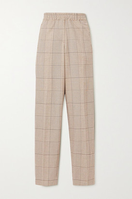 REMAIN Birger Christensen Meg Prince Of Wales Checked Woven Tapered Pants - Gray
