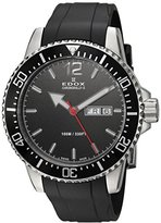 Edox Men's 'Chronorally-S' Quartz Stainless Steel and Rubber Sport Watch, Color:Black (Model: 84300 3CA NBN)