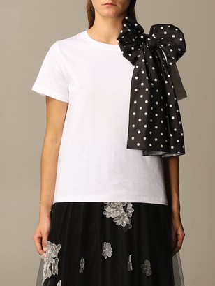 RED Valentino T-shirt T-shirt With Polka Dot Bow