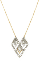 Alexis Bittar Crystal Encrusted Spiked Lattice Pendant Necklace