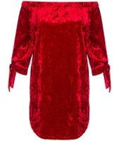 Dorothy Perkins Womens *Quiz Velvet Tie Sleeve Tunic- Red