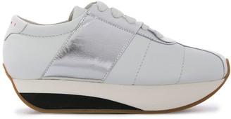 Marni Big Foot metallic sneakers