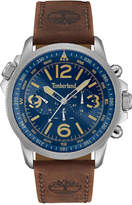 Timberland Men's Campton Dark Brown Leather Strap Watch 46x53mm TBL13910JS03