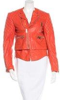 Balenciaga Lace-up Leather Jacket