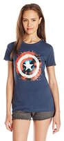 Marvel Juniors Splatter Shield Captain America Graphic Tee