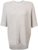 Organic by John Patrick shortsleeved knit blouse