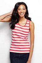 Classic Women's Tall Cotton Tank Top-Light English Violet Stripe
