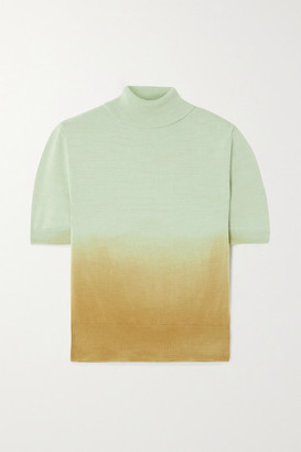 ANDERSSON BELL Erin Tie-dyed Cotton Turtleneck Sweater - Mint