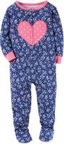 "Carter's Baby Girls' ""Heart Bouquet"" Footed Pajamas"