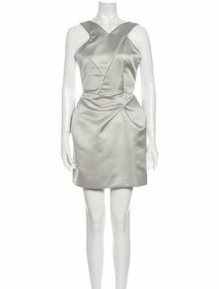 Roland Mouret V-Neck Mini Dress Grey