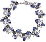 Carolee Bracelet, Silver-Tone Glass Stone Flex Bracelet