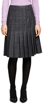Brooks Brothers Saxxon Wool Pleated Skirt