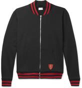 Saint Laurent Teddy Loopback Cotton-jersey Zip-up Sweatshirt - Black