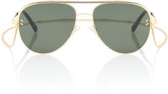 Stella McCartney Aviator sunglasses with chain