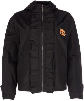 Prada Ruffled Hooded Jacket