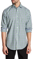 Thomas Dean Windowpane Long Sleeve Shirt