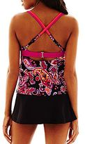 JCPenney Beach Native® Twisted Paisley Tankini Swim Tops or Solid Skirt