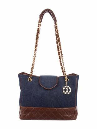 Chanel Vintage Denim Shopping Tote denim