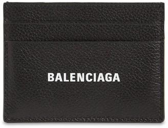 Balenciaga Logo Leather Card Holder