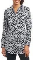 Foxcroft Fay Animal Print Shirt