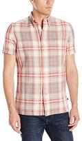 Nautica Men's Sail Plaid Short Sleeve Shirt