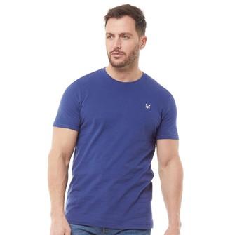 Crew Clothing Mens Round Neck T-Shirt Navy