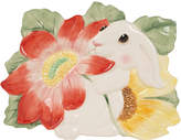 Fitz & Floyd Bunny Blooms Canape Plate
