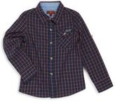 7 For All Mankind Boy's Checked Button-Front Shirt