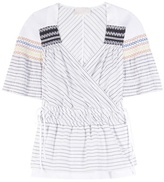 Peter Pilotto Tone smocked cotton and silk top