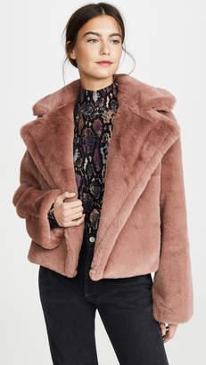 BB Dakota Big Time Plush Faux Fur Jacket