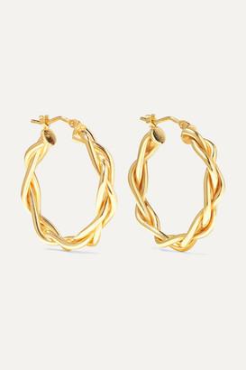 Loren Stewart Net Sustain 14-karat Gold Hoop Earrings