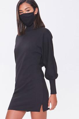 Forever 21 Mock Neck Dress Face Mask Set