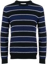 Salvatore Ferragamo striped crew neck jumper