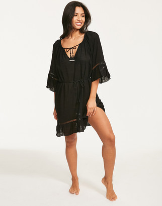 Seafolly Black Bell Sleeve Cover Up
