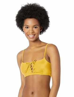 RVCA Junior's Solid Laced Bikini TOP