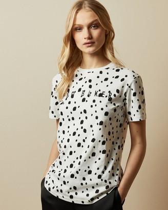 Ted Baker Cotton Polka Dot T-shirt