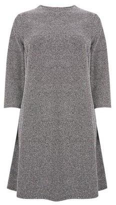Dorothy Perkins Womens **Grey Tweed Swing Dress