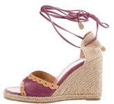 Louis Vuitton Suede Espadrille Wedges