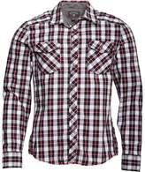 Converse Mens Qasim Woven Pocket Checked Long Sleeve Shirt Phantom Multi