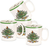 Spode Christmas Tree Set of 4 Stacking Mugs