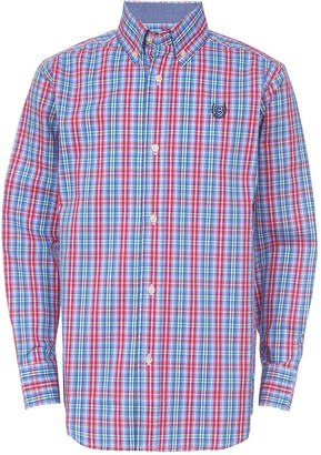 Chaps Boys 8-20 Plaid Woven Button-Up Shirt