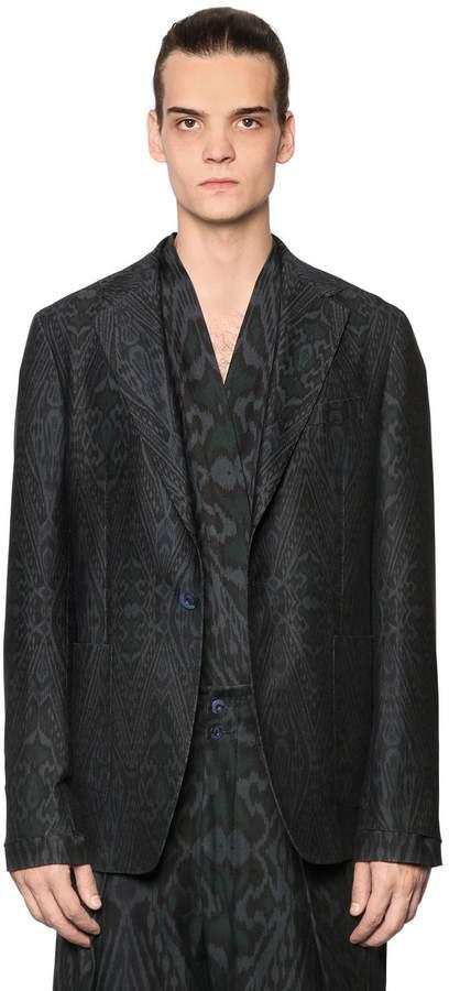 Etro Deconstructed Cotton & Wool Twill Jacket