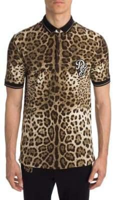 Dolce & Gabbana Leopard Cotton Polo