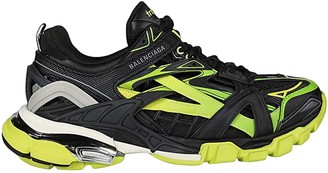 Balenciaga Track 2 Open Paneled Sneakers Black/yellow