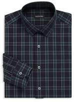 Valentino Plaid Cotton Classic-Fit Dress Shirt